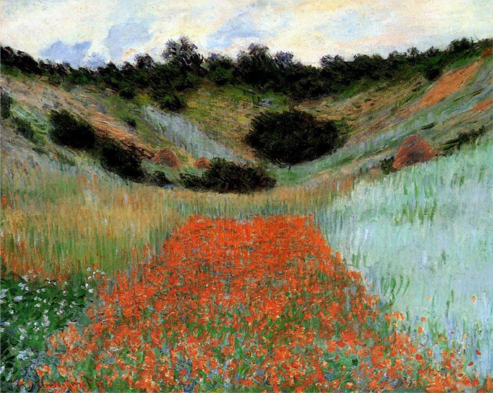 Monet - Vlčie maky v Giverny